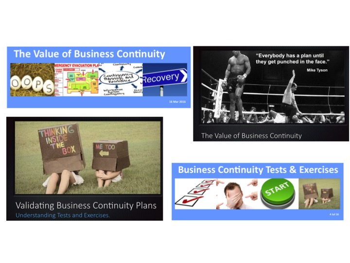 Promoting Your Continuity Capability