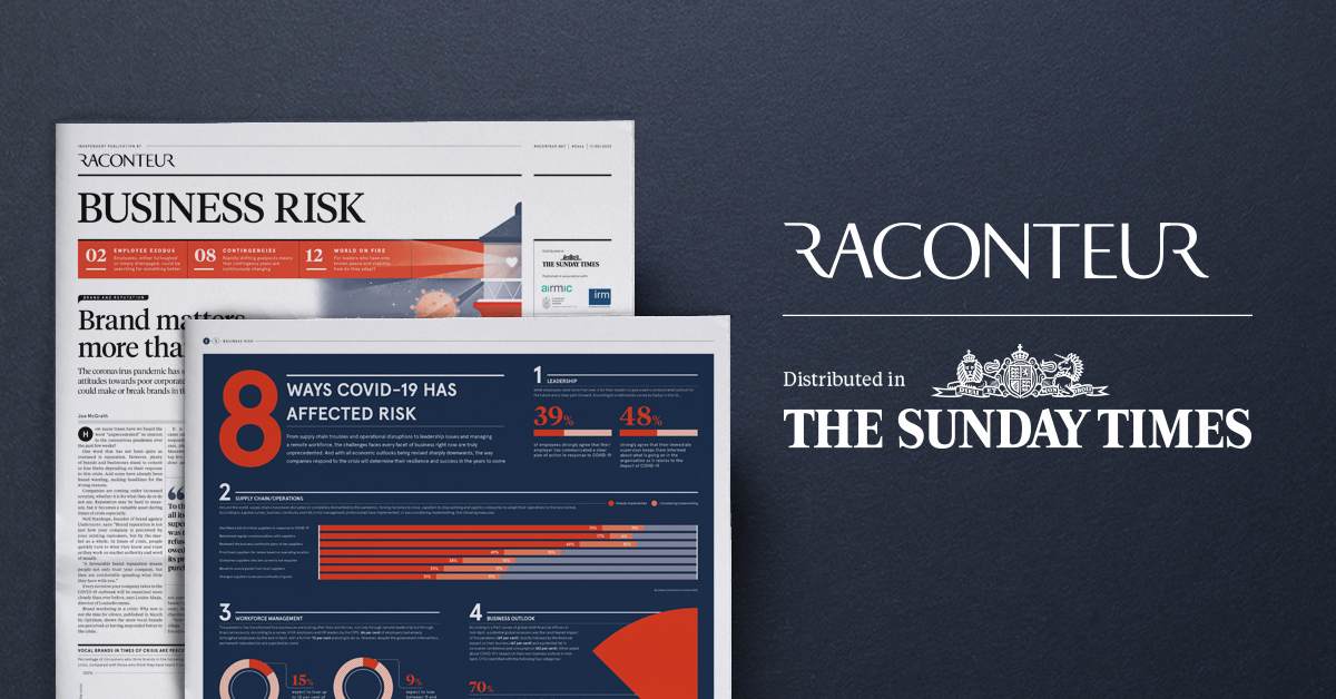 Risk and Resilience featured in the Sunday Times' Raconteur supplement